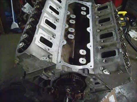GMC Denali`08 w 6.2l valley seals, cam bolt, timing cover crank bolt, oil pan install pt9