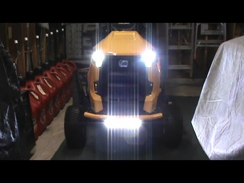 How to wire in a LED light bar on your Cub Cadet tractor  YouTube