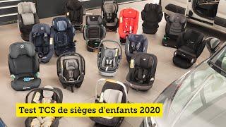 Test TCS de sièges d'enfants 2020