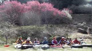 2013/3/16 フジタカヌーツアー 月ヶ瀬湖 梅見 ツーリング 木津川の上流...