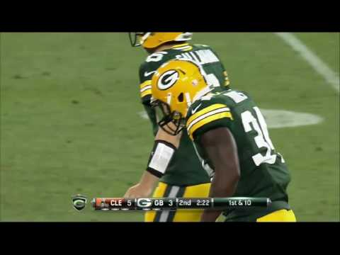 Brandon Burks, Packers/Browns NFL Preseason 8/12/16