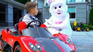 Artem plays with Toys & Easter Bunny - Collection video for kids