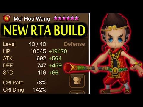 SUMMONERS WAR: Testing New Hybrid Build for Mei Hou Wang ( Fire Monkey King ) for RTA!