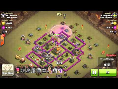 Clash of Clans   Clan War   The Empire vs. JNS group   TH8 GoWiVa