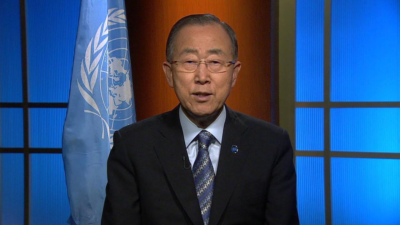 Mr Ban Ki Moon support innovative financing - YouTube