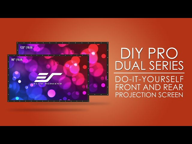 Elite Screens DIY Pro WraithVeil Dual Front/Rear Projection Screen Product Video