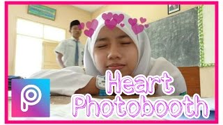 PicsArt-Cara edit Love diatas Kepala(Photobooth Heart Effects) ala awkarin #Foto Kekinian