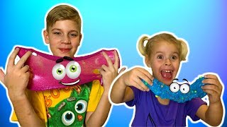 Eva and Alex play with slimes and make slime IFun kids video I slime videos for Childrens