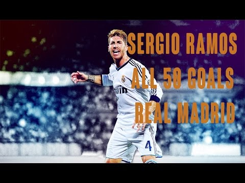 Sergio Ramos all 50 Goals with Real Madrid 2005-2015 HD