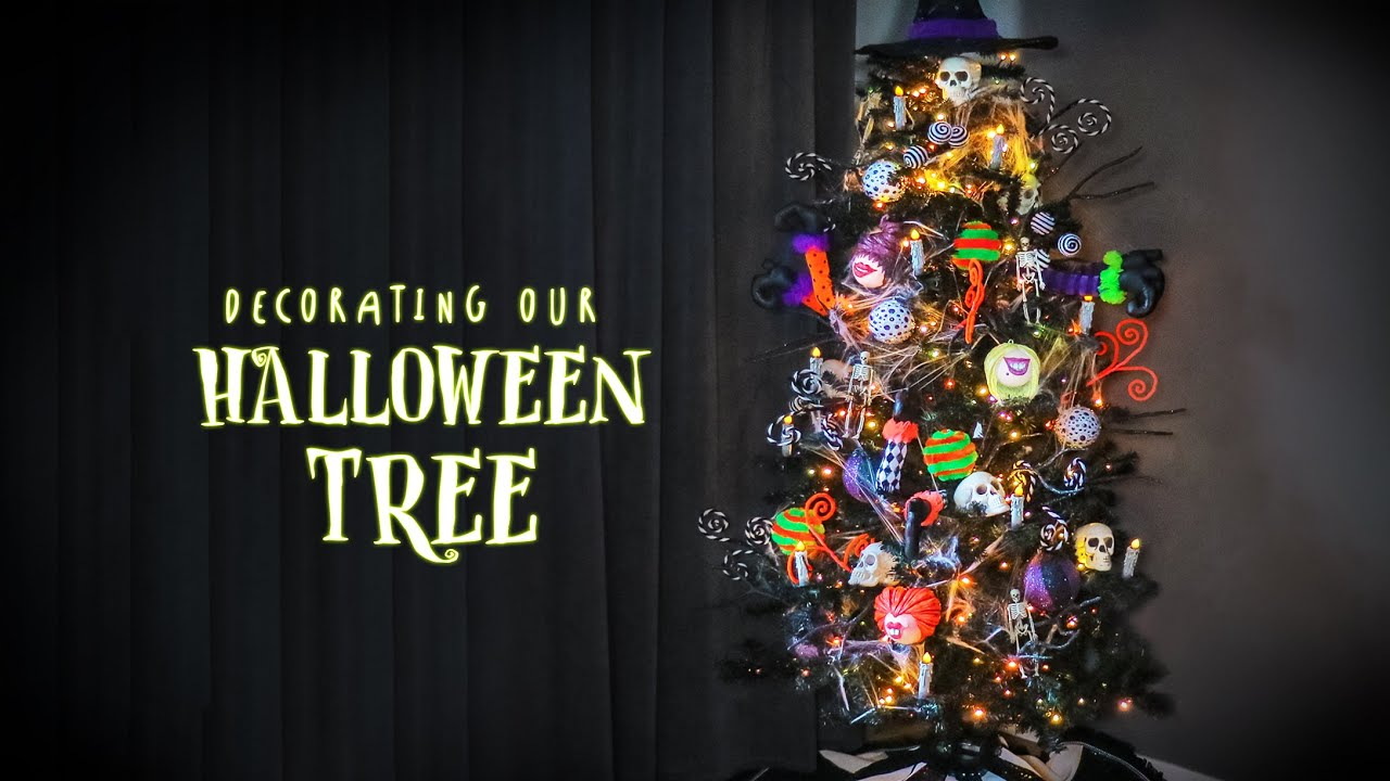 Decorating our Halloween Tree 2020 | How to Decorate a Halloween Tree