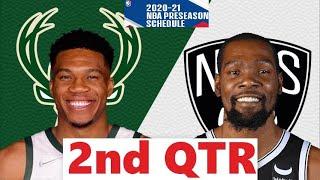 Brooklyn Nets vs. Milwaukee Bucks Full Highlights 2nd Qtr