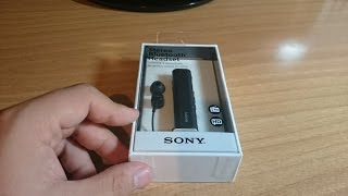 6277ffc31b1 Sony SBH54 Black Stereo Bluetooth Headset Unboxing{English}
