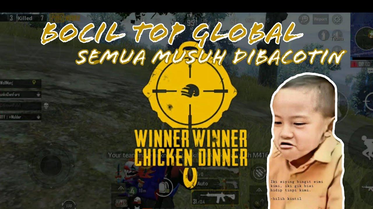 DIGENDONG BOCIL SAMPAI CHICKEN , ONE SHOT ONE KILL ,PUBG MOBILE