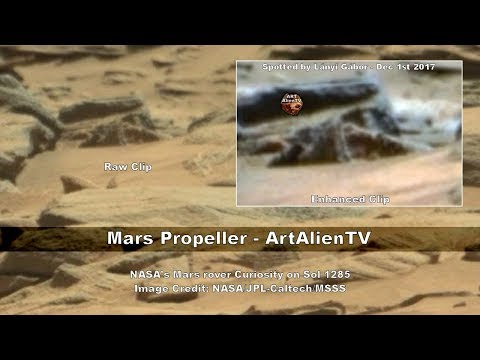 Mars Ship Confirmed by NASA Rover - & Propeller Found - ArtAlienTV