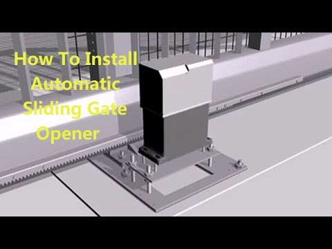 How To Install A Automatic Sliding Gate Opener Flash