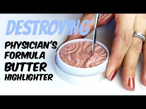 Destroying, weighing & re-pressing the Physician's Formula Butter Highlighters | THE MAKEUP BREAKUP