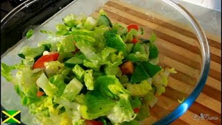 Summer Sweet Gem Lettuce Salad Recipe [Jamaican Chef ]