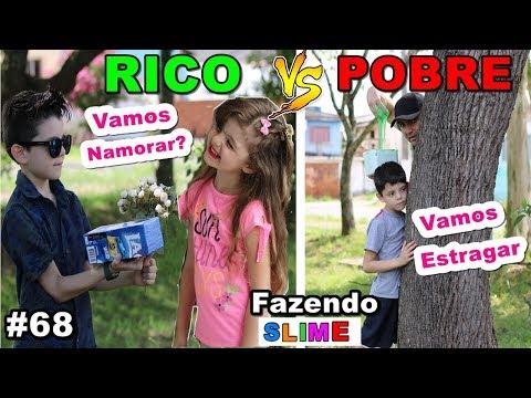 RICO VS POBRE FAZENDO AMOEBA / SLIME #68