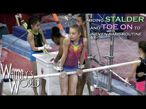 Upgraded Uneven Bars Routine | Whitney Bjerken