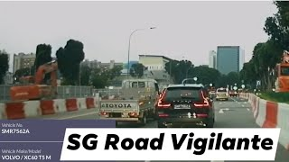 9jul2020 Victoria Street #SMR7562A volvo xc60 t6 going straight on a right turn lane.