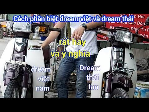 cách phân biệt xe dream việt và dream thái,nhận biết xe dream thái,cách kiểm tra tra xe máy cũ