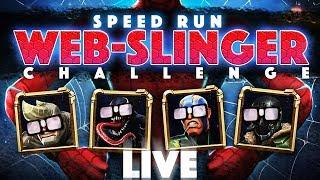 Web-Slinger Challenge Last Minute Speed Run Extravaganza: Snow Cone Edition!