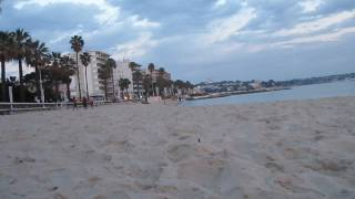 on a beach in juan les pins, 2009