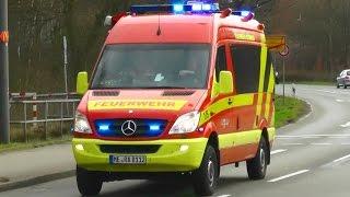 Gasgeruch - ELW B-Dienst, HLF 20/16 und RTW der Feuerwehr Ratingen
