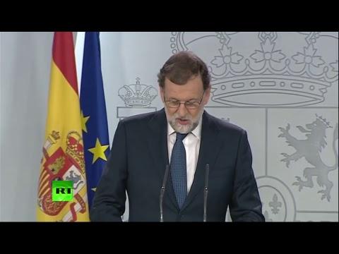 Comparecencia de Mariano Rajoy para anunciar medidas contra la declaración de independencia