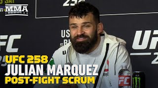 "UFC 258: Julian Marquez: ""100 Percent"" Chance Miley Cyrus Makes A Song About Him Next - MMA Fighting"