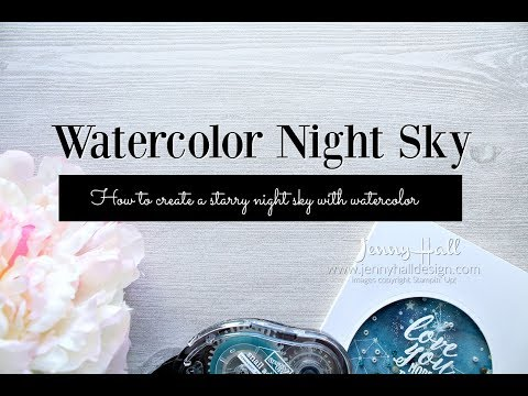Watercolor galaxy shaker and embossing on acetate using Stampin Up products with Jenny Hall