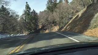 Green Valley Lake CA snow drive December 9 2018