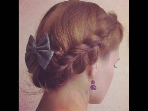 Прическа с плетением на средние волосы. Корзинка ❤  Косы. Braid hairstyle for medium hair