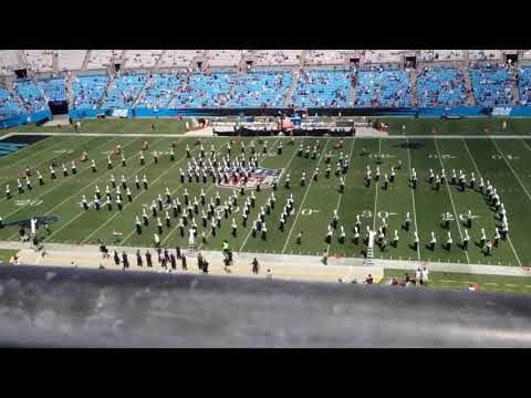 UNCC Marching Band at Panthers Game 2017-09-17