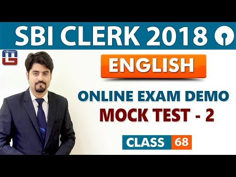 SBI Clerk Prelims 2018 | Online Exam Demo | Mock Test - 02 | English | Live At 9 am | Class-68