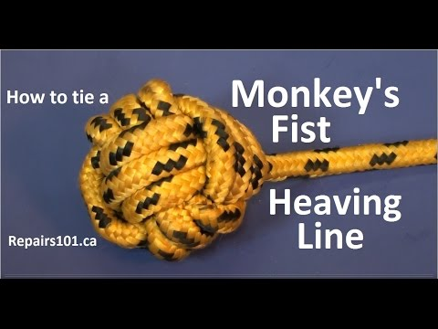 Monkey's Fist Heaving Line - How To Tie This Useful Knot