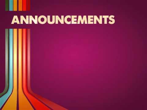 Announcements Video Loop - YouTube