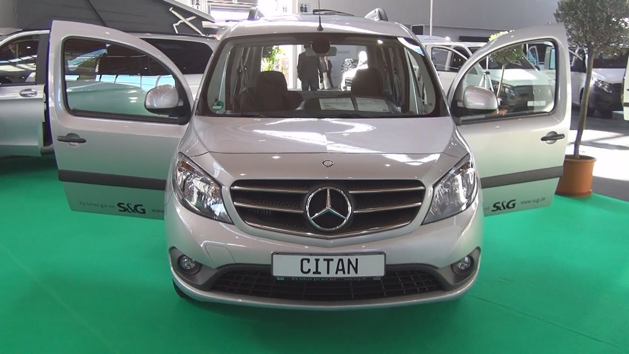 Mercedes Benz Citan Tourer 109 Cdi 2016 Exterior And Interior In 3d Youtube