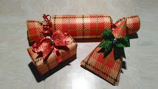 Small Gift Wrapping Ideas Using Toilet Paper Roll - DIY