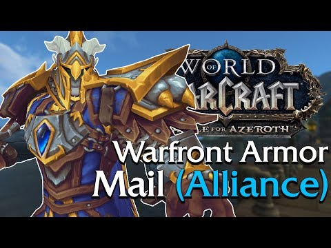 Warfront Armor: Mail Tier 13 Alliance In Game Preview  World of Warcraft