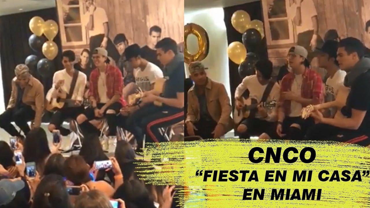 """""""FIESTA EN MI CASA"""" (JOEL Y CHRIS) + MAMITA + HEY DJ + Palabras / Listening Session en MIAMI"""