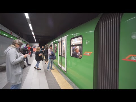Italy, Milan, metro ride from Centrale FS to Gioia