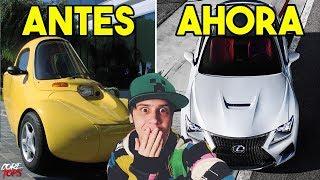 7 AUTOS De YOUTUBERS Antes Y Ahora | Rubius, Robleis, Patty Dragona