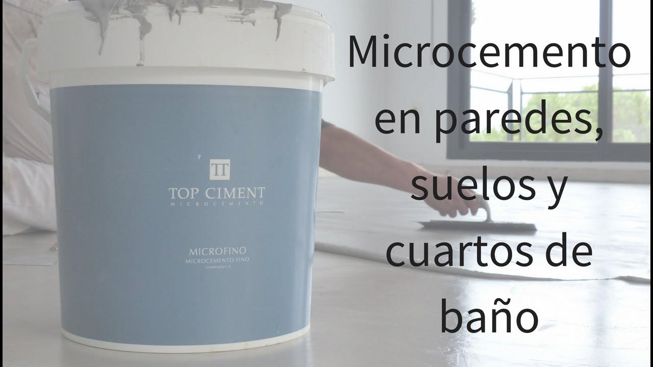 Microcemento aplicacin en paredes suelos y cuartos de