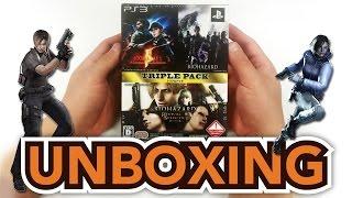 Biohazard(Resident Evil) Triple Pack (PS3) Japanese Import Unboxing!!