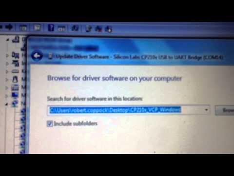 Afro USB programming tool driver installation on Windows PC