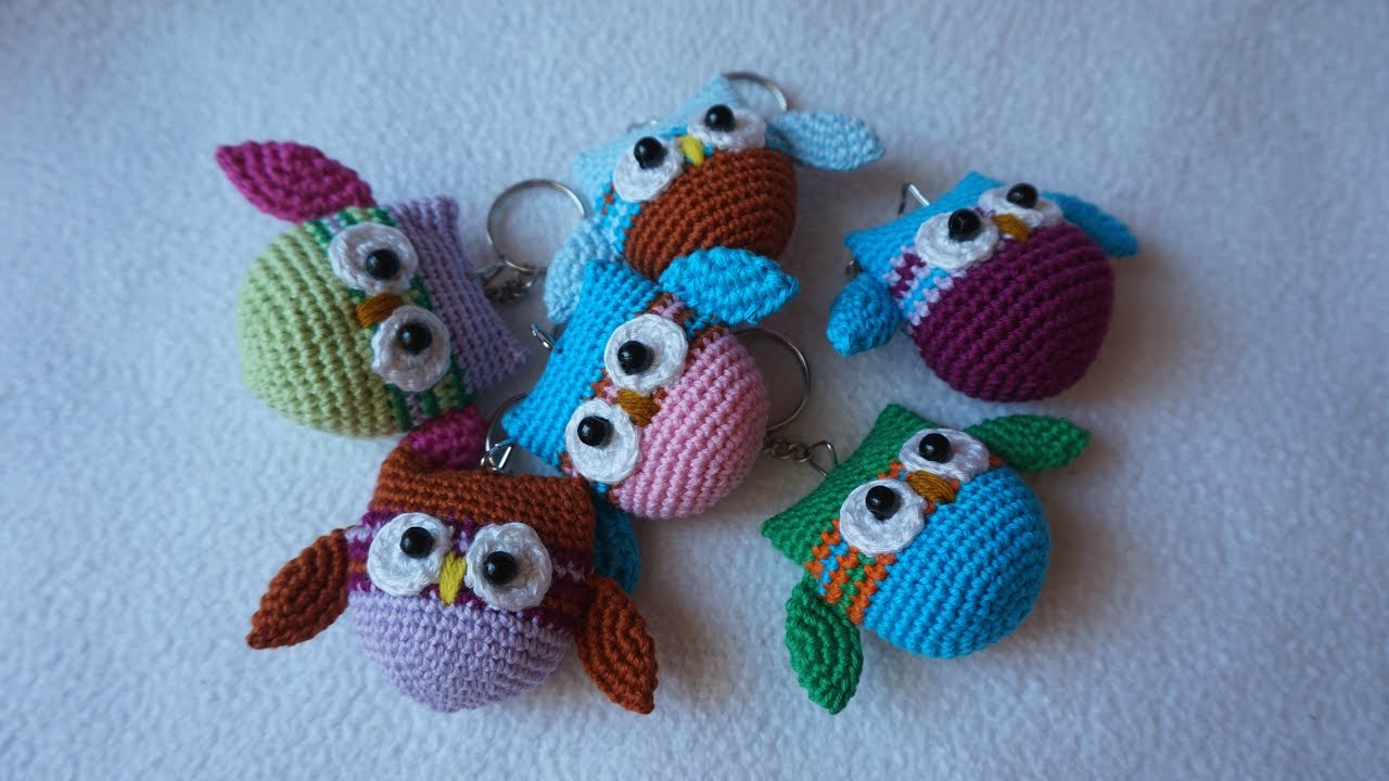 Cute Little Amigurumi Owl : How to crochet owl keychain youtube