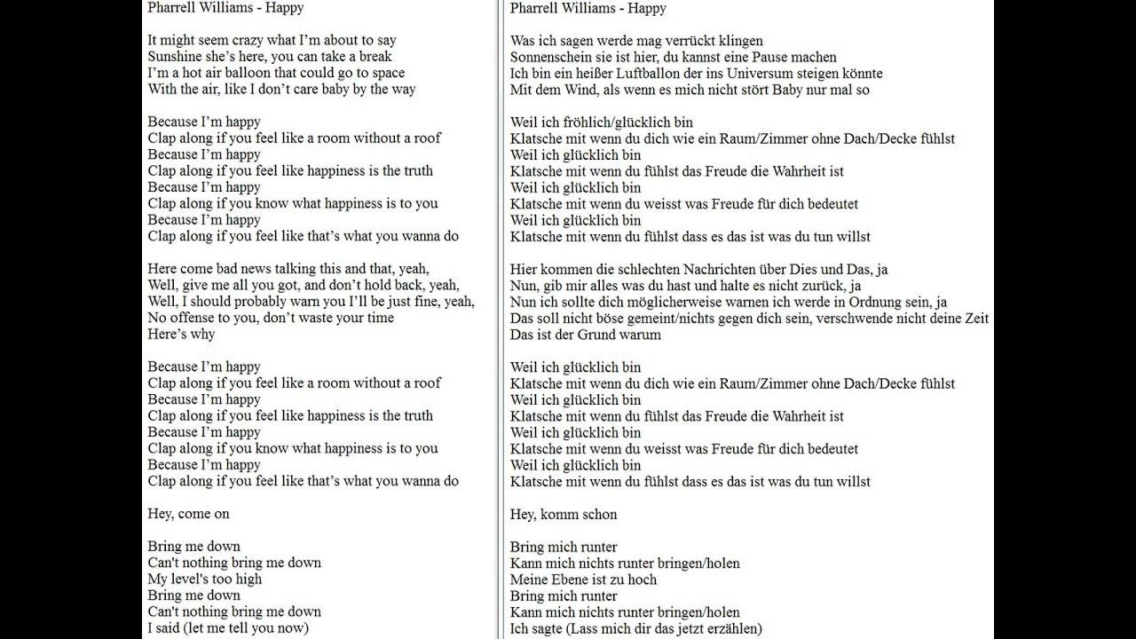 happy pharrell williams lyrics for