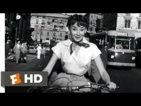 Roman Holiday (9/10) Movie CLIP - Vespa Ride (1953) HD