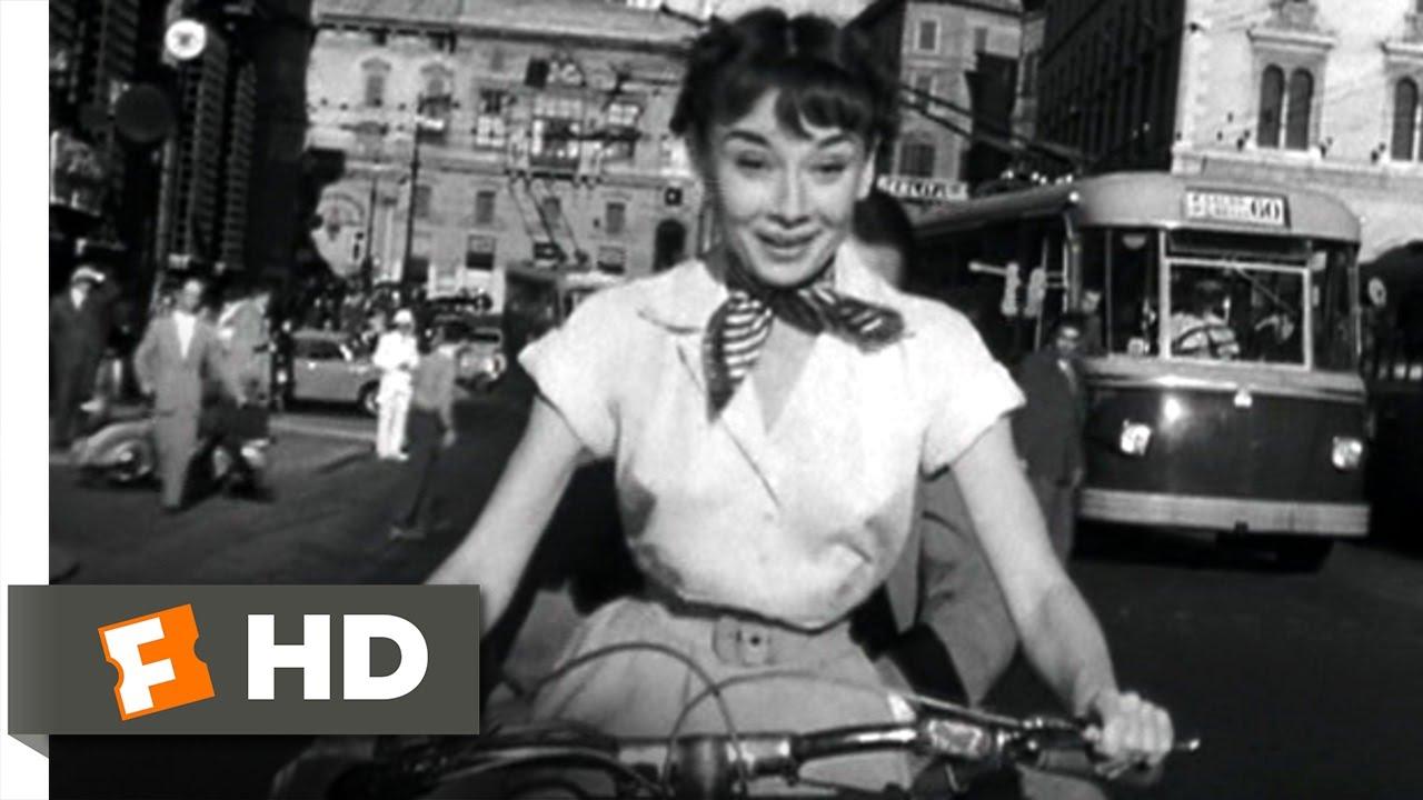 Roman Holiday 910 Movie Clip Vespa Ride 1953 Hd Youtube